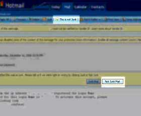 Hotmail screenshot